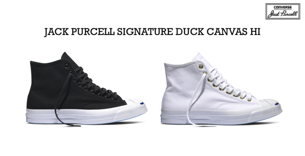 0419010b01fb40 Converse First String Jack Purcell Signature Duck Canvas Hi Quickstrike