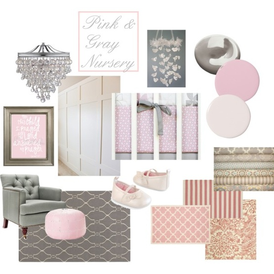 Interior Design Elegant Pink White Gray Baby Girl Room: Beauty 4 Ashes: Pink And Gray Nursery {Moodboards}