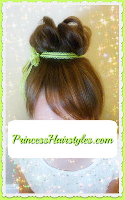 Tinkerbell hair tutorial