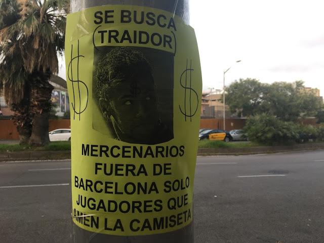 Fan Barca truy nã kẻ phản bội hám lợi Neymar