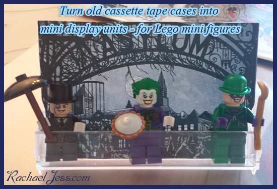 I've kept my favourite to last, as we've all been having a go with this one.  The tape cases make ideal Lego mini figure display boxes!  Armed with our comic books and mini figures, we have quite a few new displays now in the house.