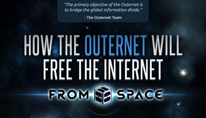 How the Outernet will free the Internet from space - An #infographic on the what/how/where/why/who/when of the #Outernet - #internet #tech