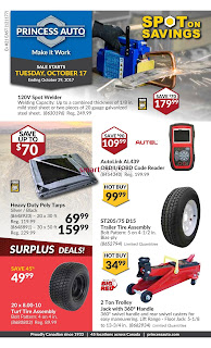 Princess Auto Flyer October 17 to 29, 2017