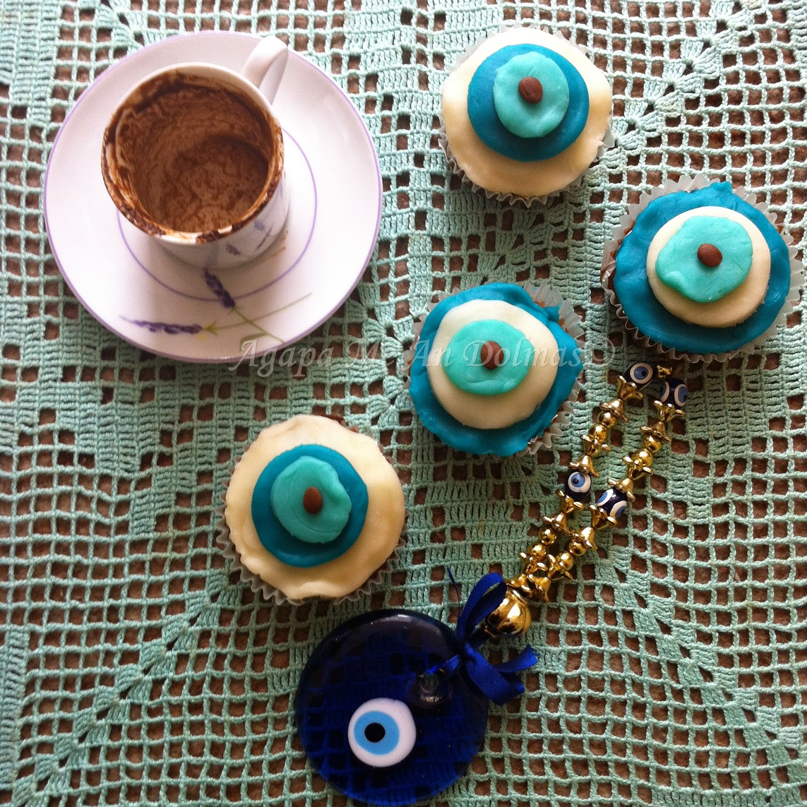 evil eye cupcakes