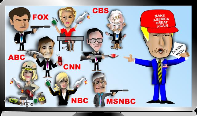Αποτέλεσμα εικόνας για TRUMP vs media