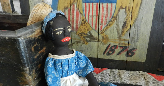 Antique black rag doll reproduction ready