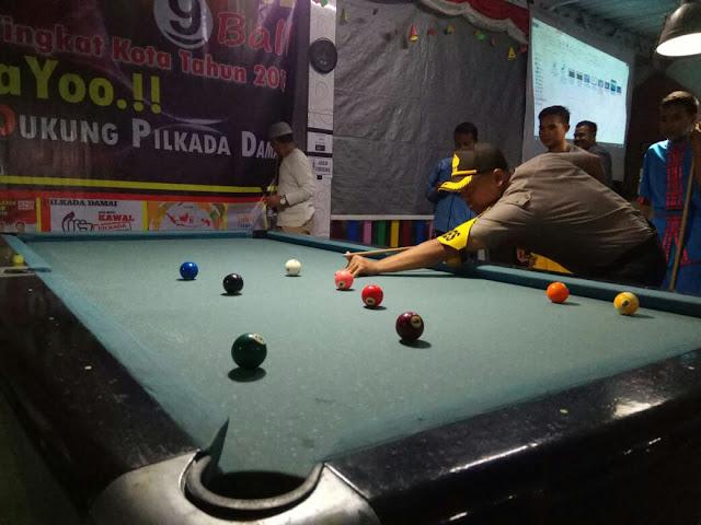 Kapolres Pagaralam Tunjukan Kemampuan Di Turnamen 9 Ball