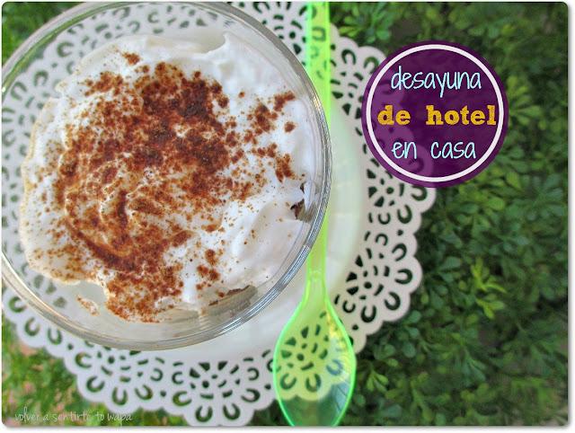 Desayuno Healthlife: avena + queso batido + canela