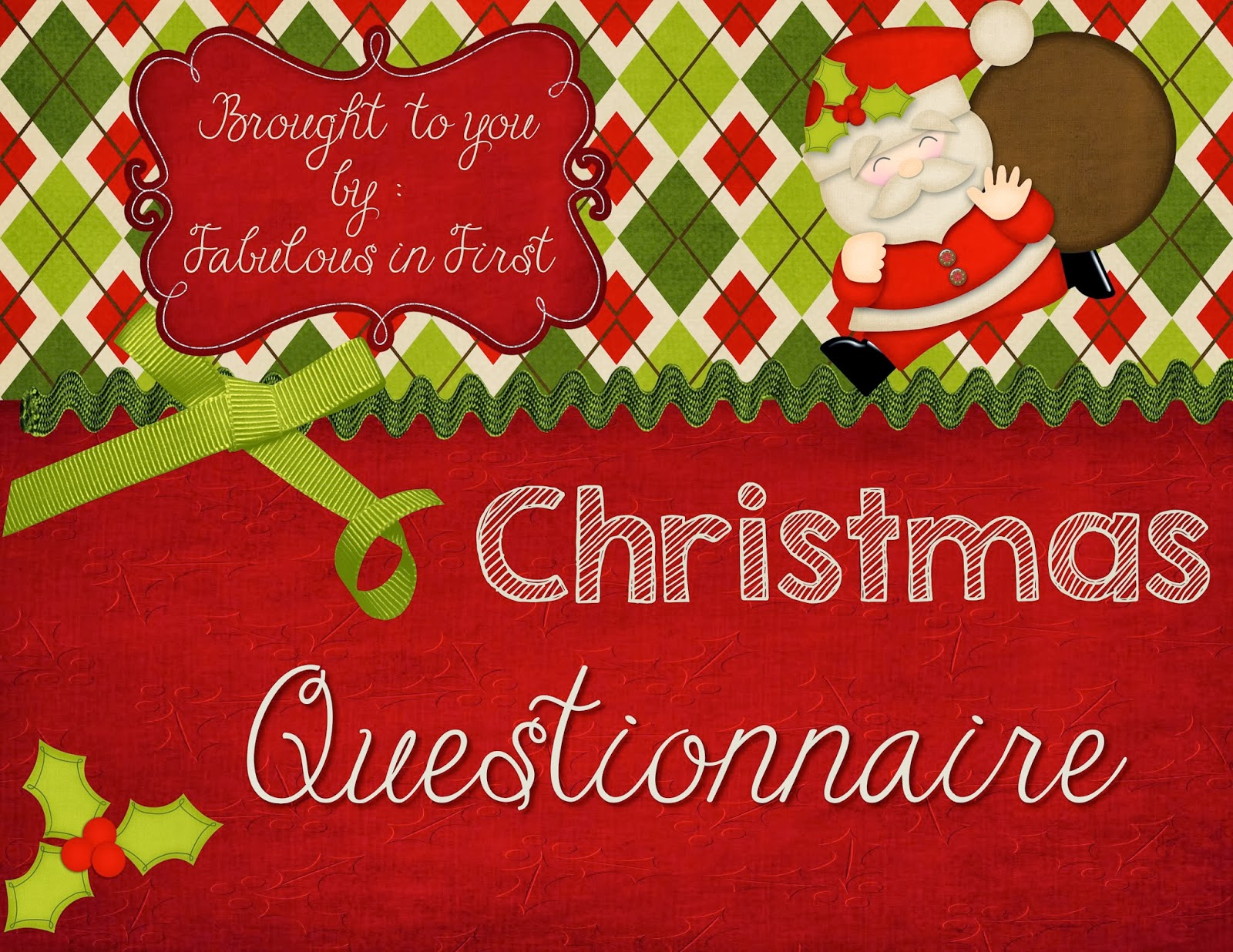 Rosie's Rambles: Christmas Questionnaire