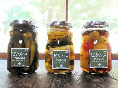 夏野菜のピクルス(ミニきゅうり、ズッキーニ、ミニトマト)