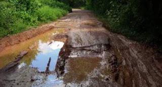 Jalan Desa Jagorajo Rusak Parah