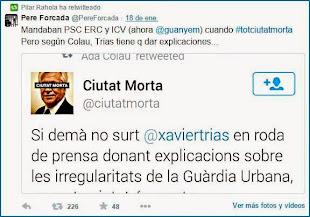 Retwitteado de Pilar Rahola (18 enero 2015)