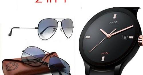 29221d77dc3 Rado Centrix Black and Ray-ban Sunglasses