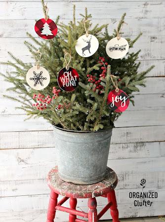 DIY Stenciled Fabric Ornaments