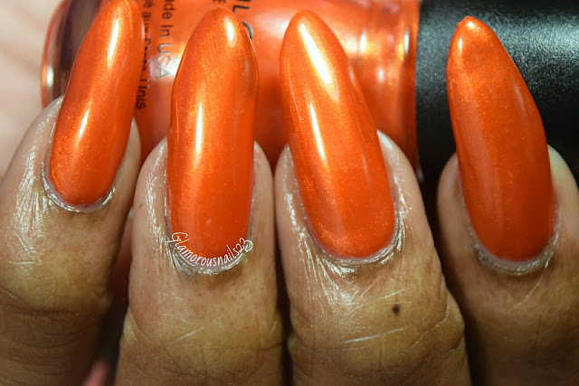 "Sinful Colors ""Courtney Orange"" Swatch"