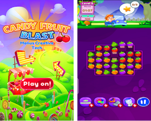 Puzzle Game of the Month - Candy Fruit Blast Game