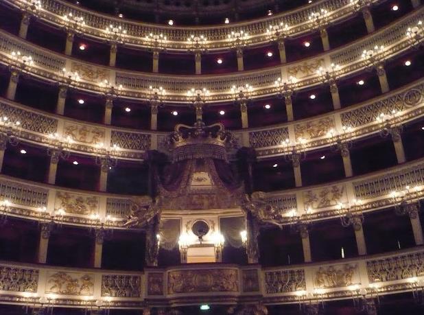 palco reale del Teatro San Carlo Napoli