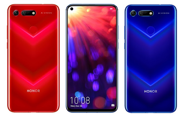 V Pattern Honor View 20-The Hole-Punch Camera Smartphone