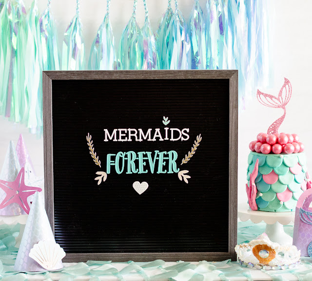 dcwv letter board mermaid grotto birthday party