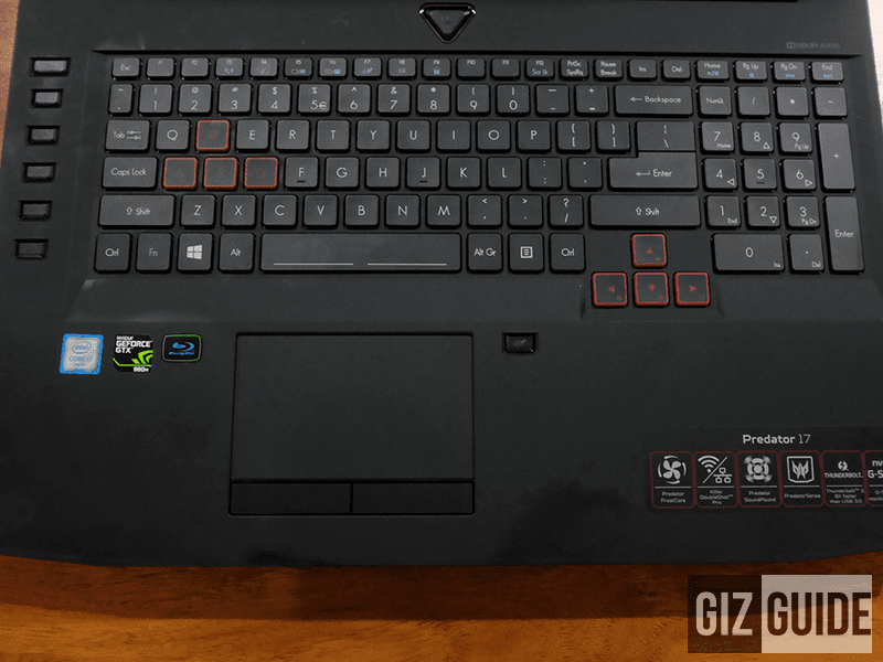 Full keyboard view