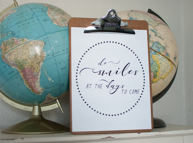 Vintage Clipboard and Vintage Globes with Word Art