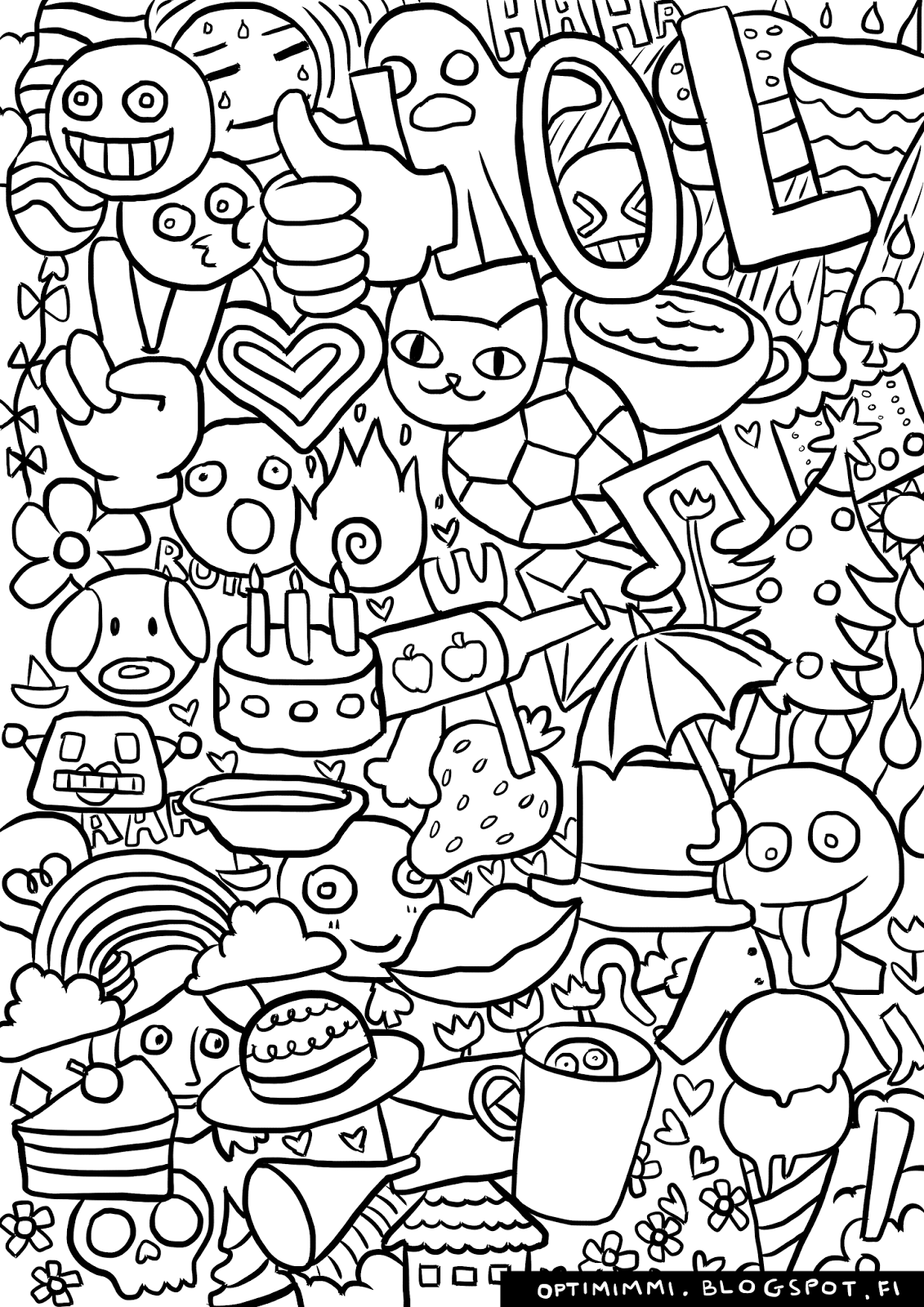 Optimimmi Coloring Pages Varityskuvat