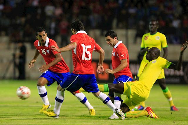 Chile y Senegal en partido amistoso, 15 de enero de 2013