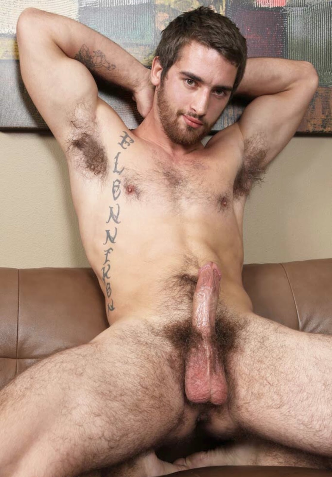 Hairy Blonde Man