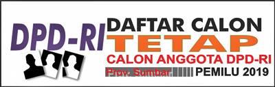 Mau Tau... DCT DPD RI, Daerah Pemilihan Prov. Sumbar