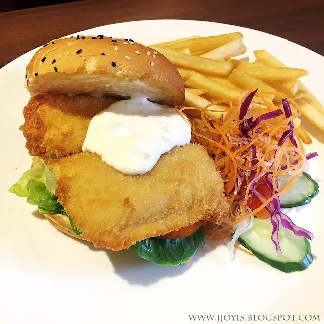swensens fish burger reivew