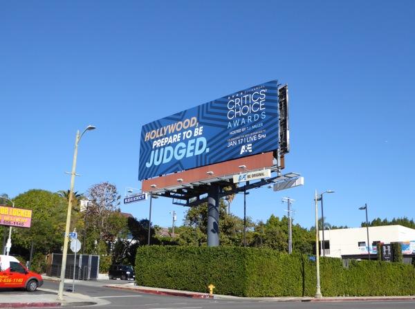 21st Critics' Choice Awards teaser billboard