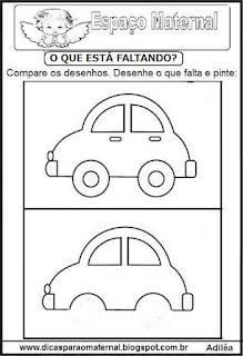 Completando desenho carro