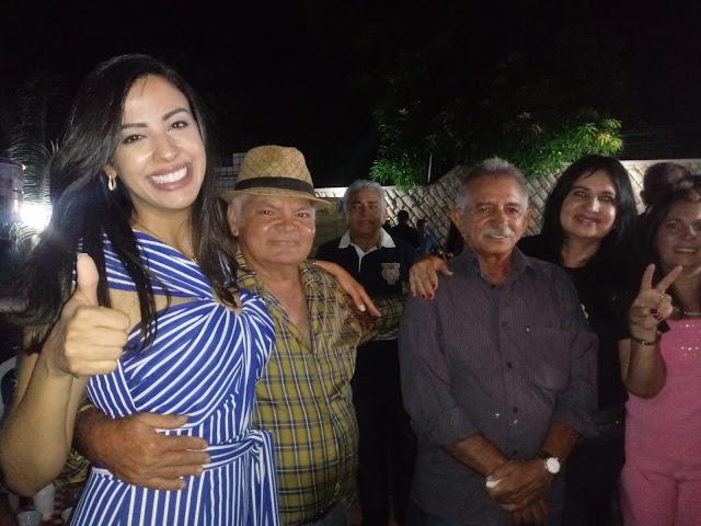 Ex prefeita Irene Soares mostra força e prestígio político ao receber Daniella Tema com festa em Presidente Dutra.