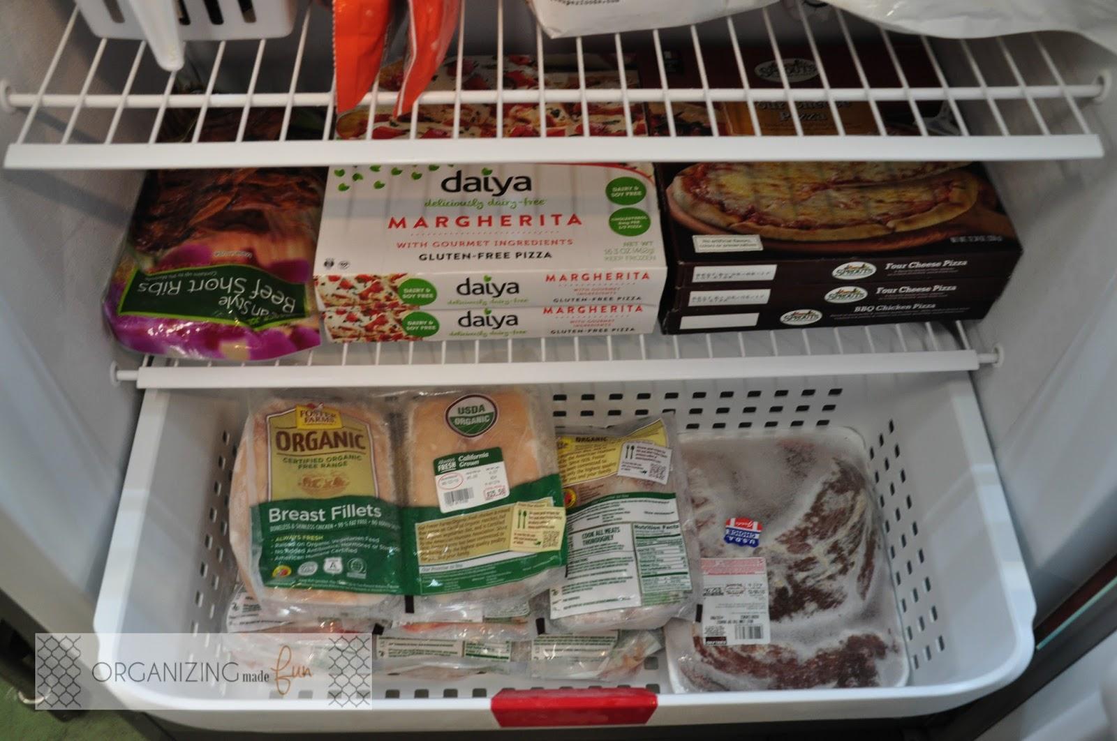 organizing an upright freezer garage freezer