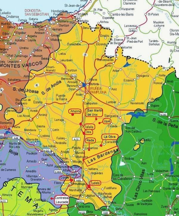 Mapa del Centre i Sud de Navarra