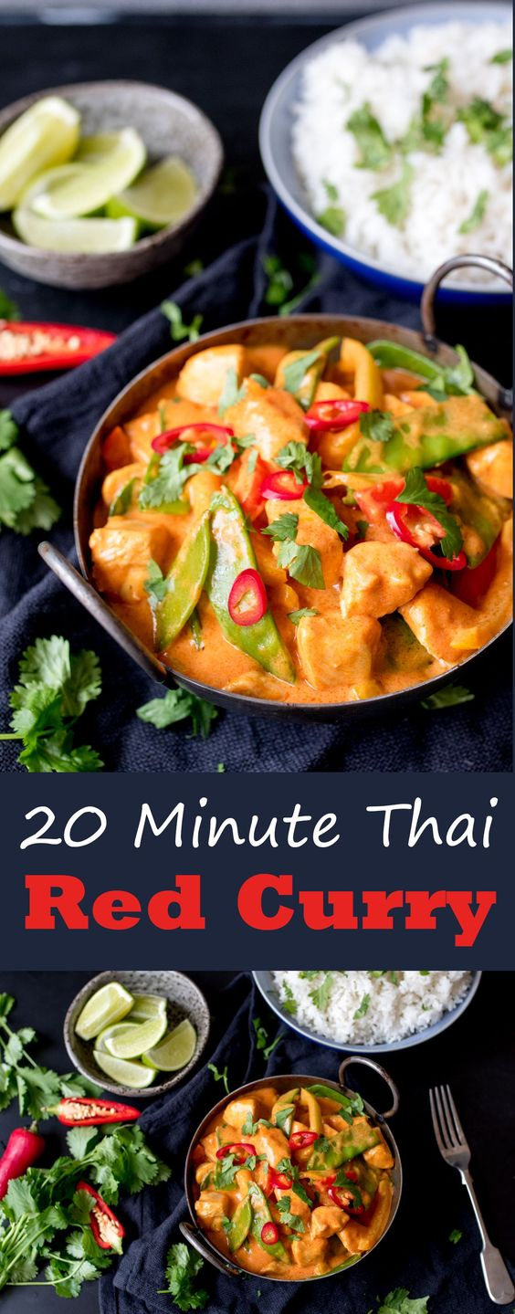20 Minute Red Thai Curry With Extra Vegetables