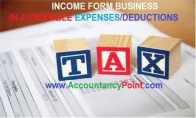 Income From Business - Definition and Inadmissible Expenses