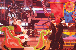 Santa Claus and reigndeer at Smoky Mountain Opry