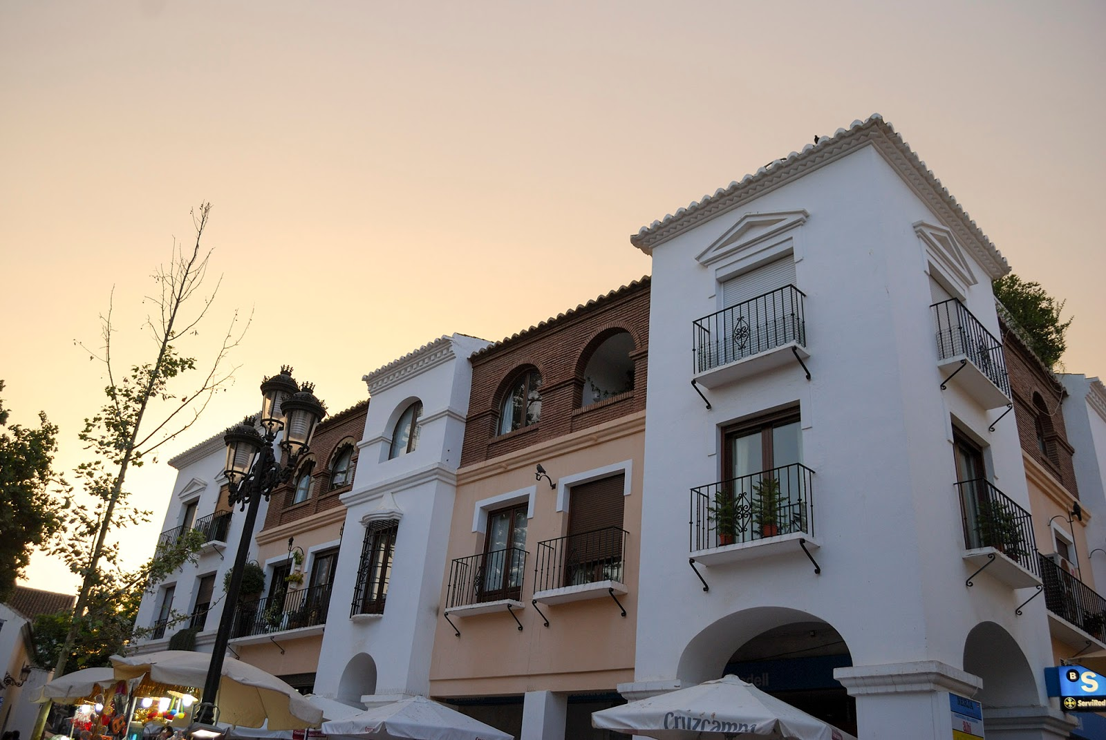 old town nerja malaga spain sunset