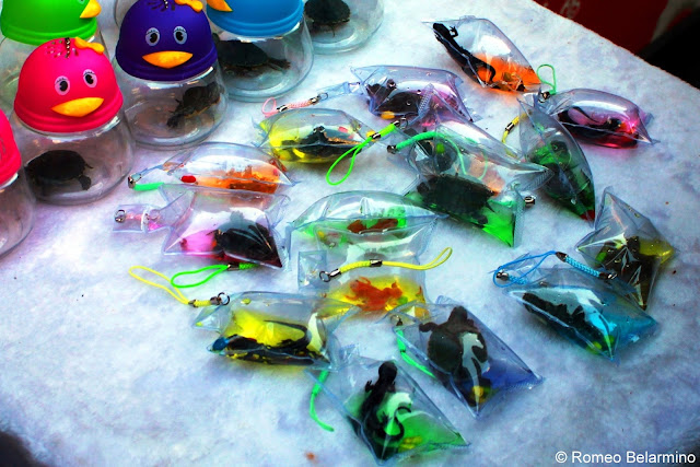 Tiny Animals Sold as Cell Phone Fobs at Wangfujing Snack Street Beijing China
