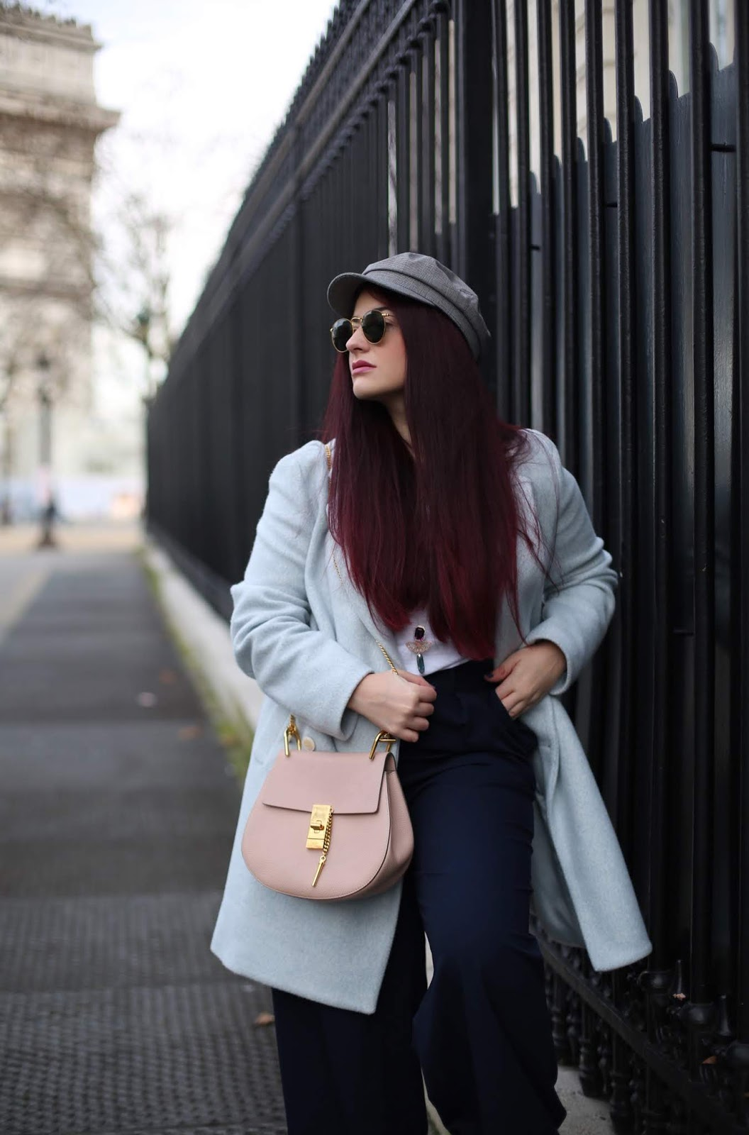 manteau baby blue blog mode