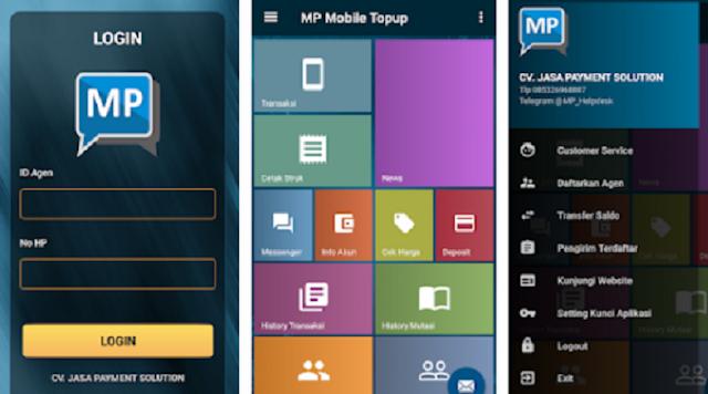 Transaksi Pulsa Via Aplikasi Android MP Mobile Topup