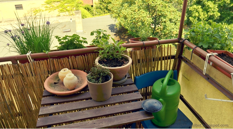 rose macht es selbst sommer auf dem balkon. Black Bedroom Furniture Sets. Home Design Ideas
