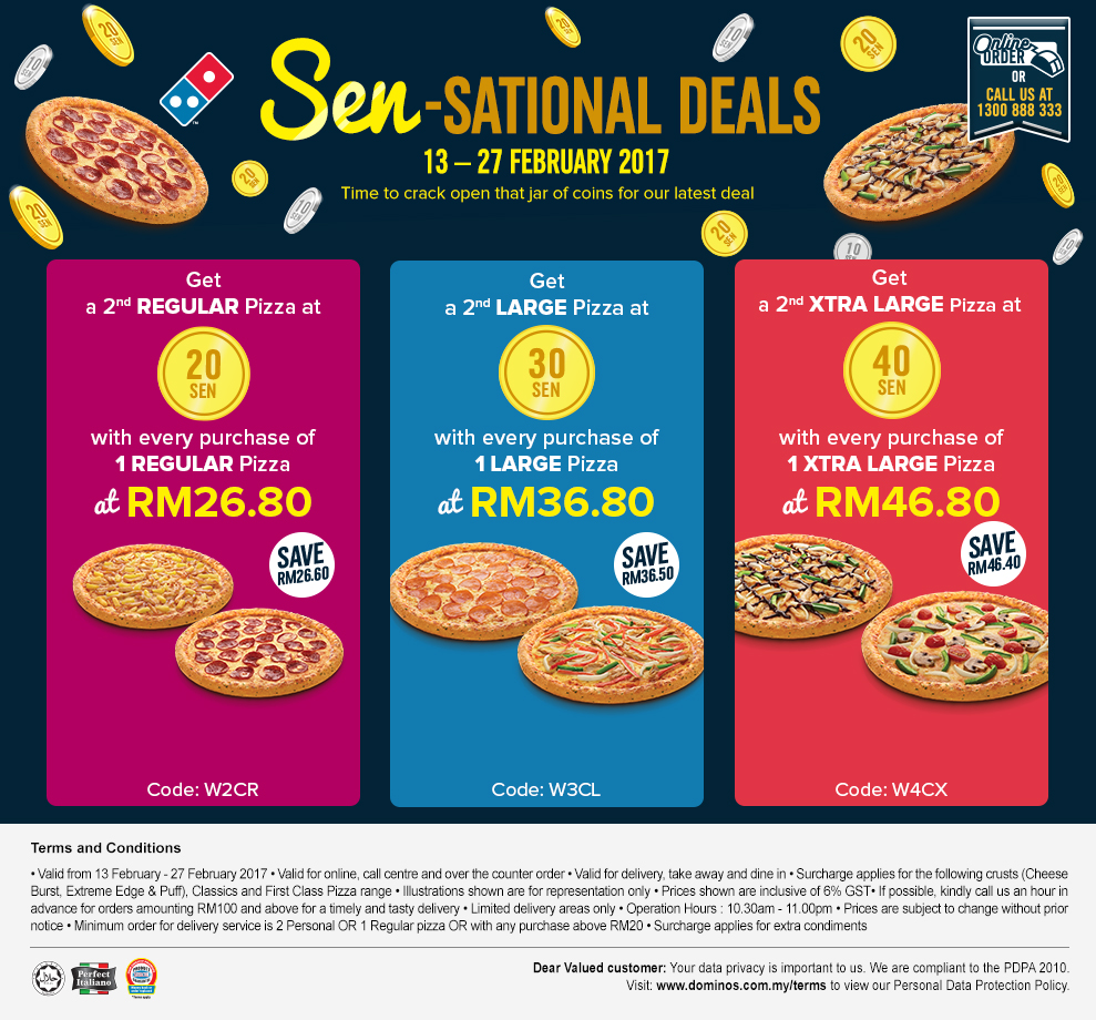 Dominos delivery coupons malaysia