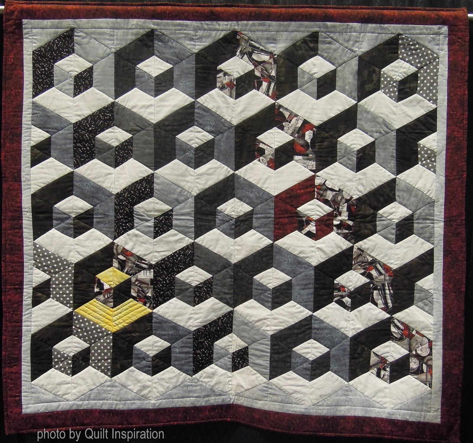 Quilting Patterns Tumbling Blocks : Quilt Inspiration: Tumbling Blocks revisited