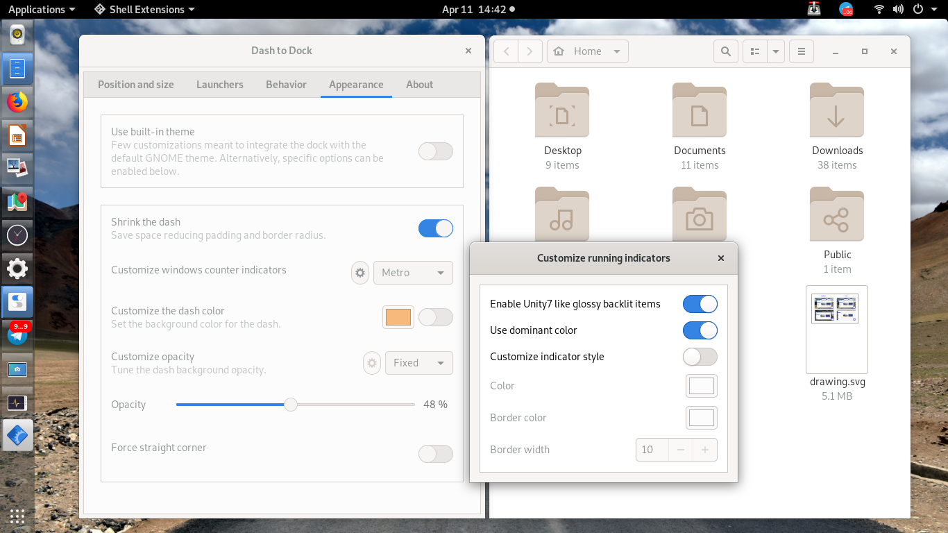 The Beauty of Dash to Dock Extension on GNOME 3 32