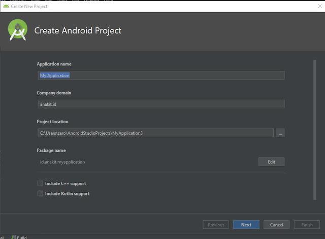 Panduan Membuat Memulai Project baru di android studio