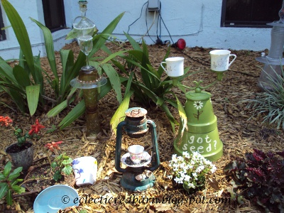 Eclectic Red Barn: Lantern and Candlestick Bird Feeders with other Garden Items