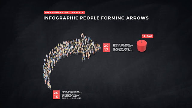 Free PowerPoint Template with Infographic People Forming Arrows Slide 5