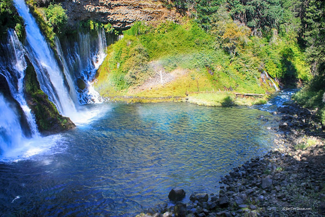 Burney Falls State Park California geology travel field trip tour copyright rocdoctravel.com